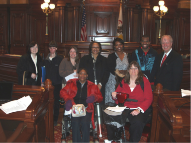 Photo of Legislative Internship group meets with Senator Terry Link